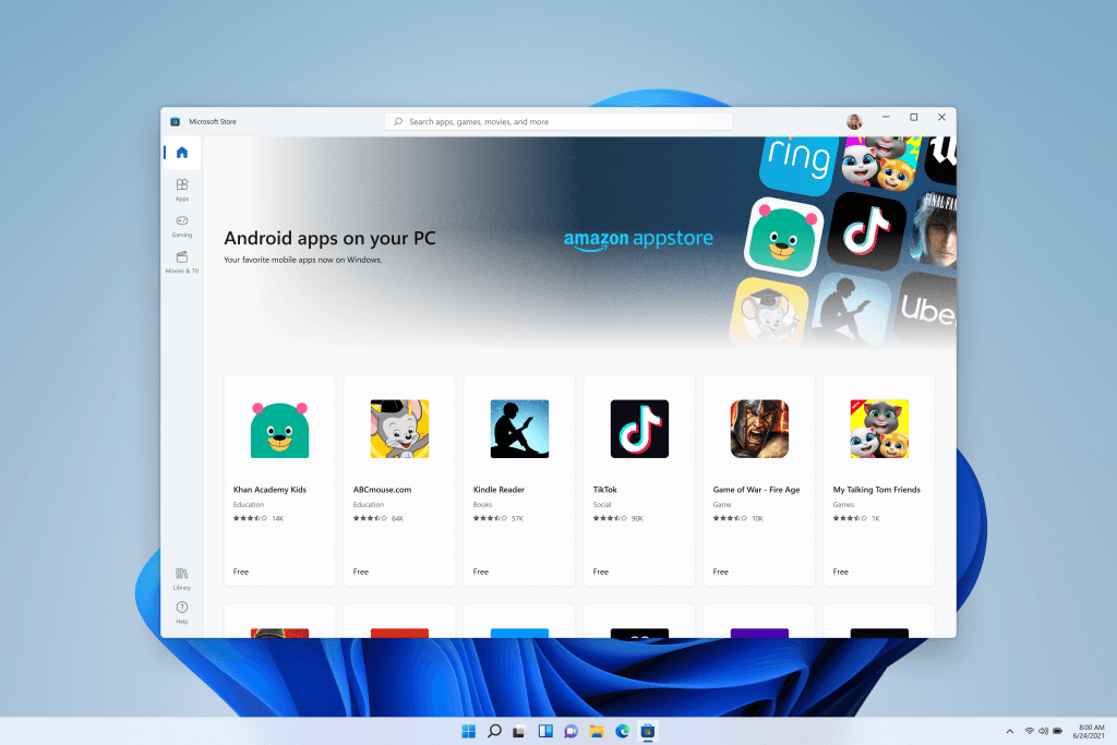 Running Android Apps Natively on Windows 11 by Downloading Them From the Amazon App Store Might Be Harder Than Expected