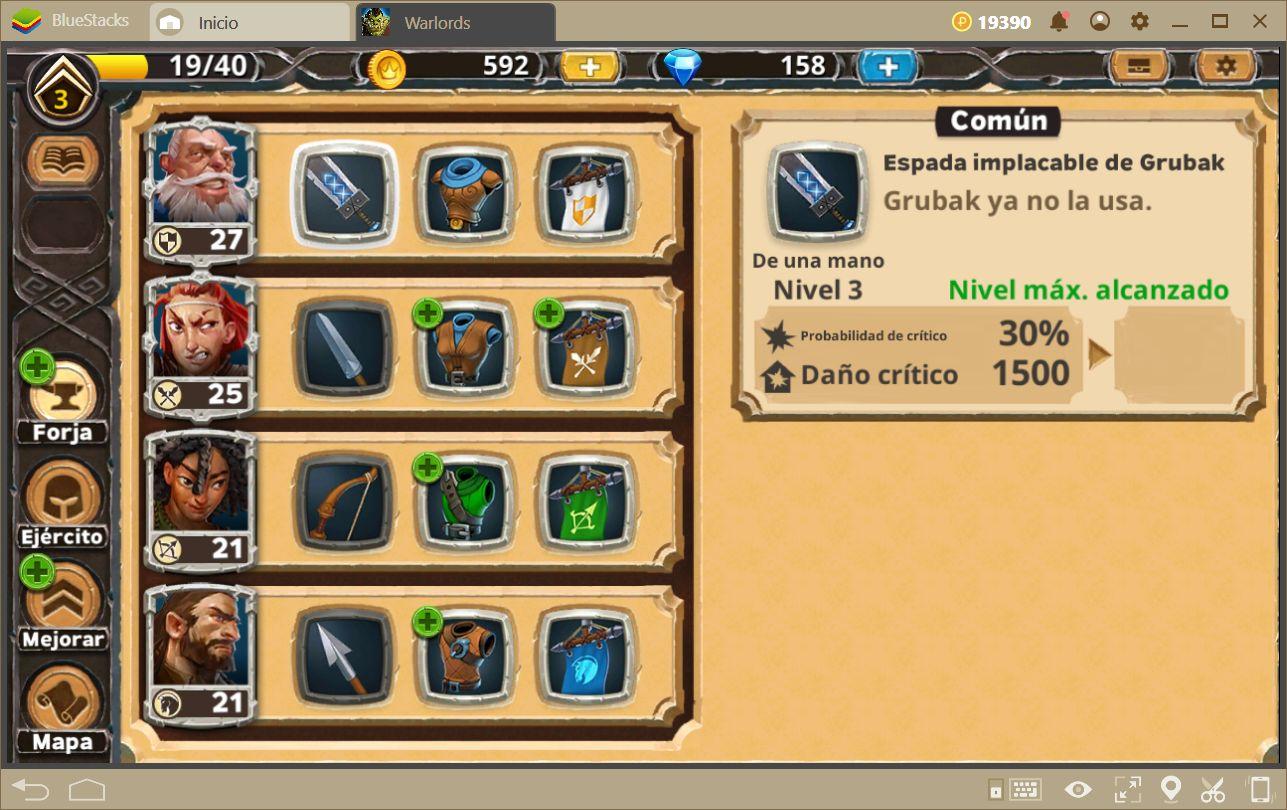 Cómo Mejorar tus Unidades en Warlords of Aternum