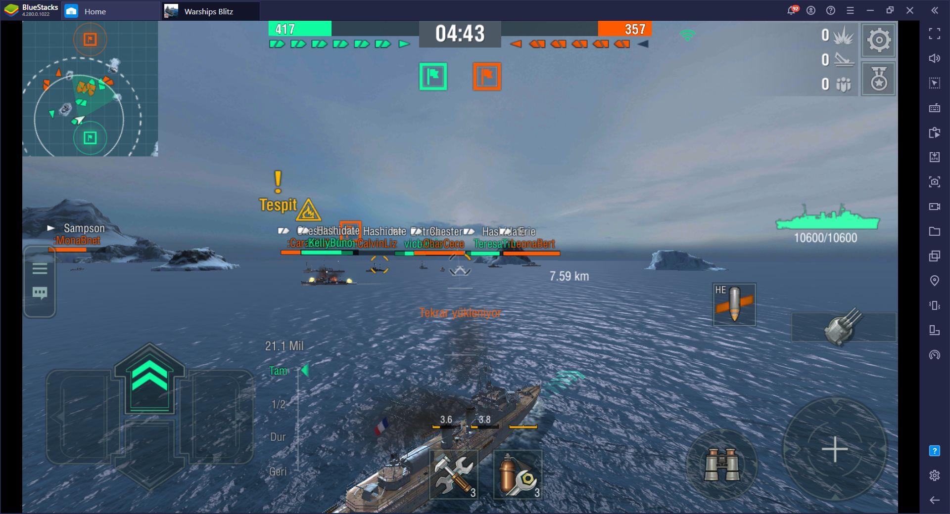 World of Warships Blitz Deniz Savaşları