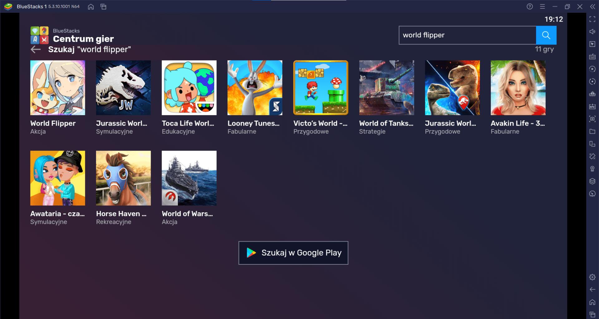 World Flipper na komputerze z BlueStacks