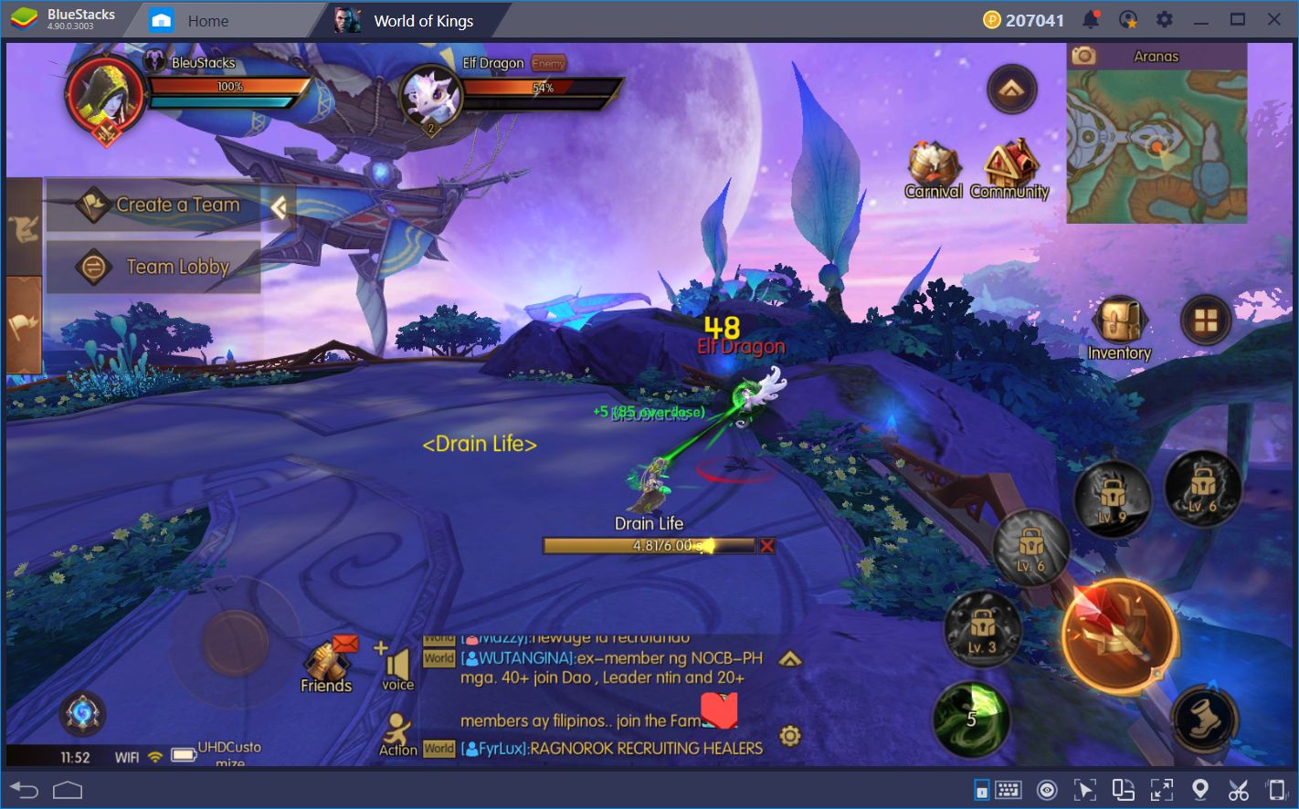 World of Kings on BlueStacks: Stunning UHD Graphics and Versatile Control Schemes