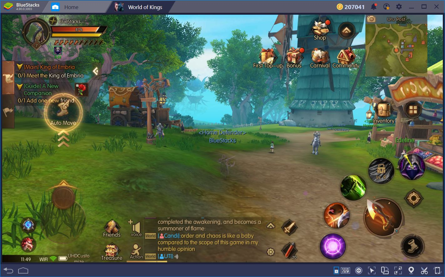 World of Kings en BlueStacks: Impresionantes Gráficas Ultra-HD y Versátiles Esquemas de Control