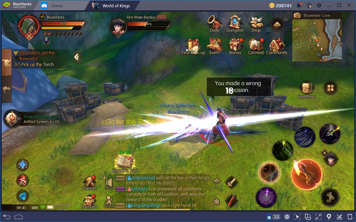 Running Tough Content in World of Kings