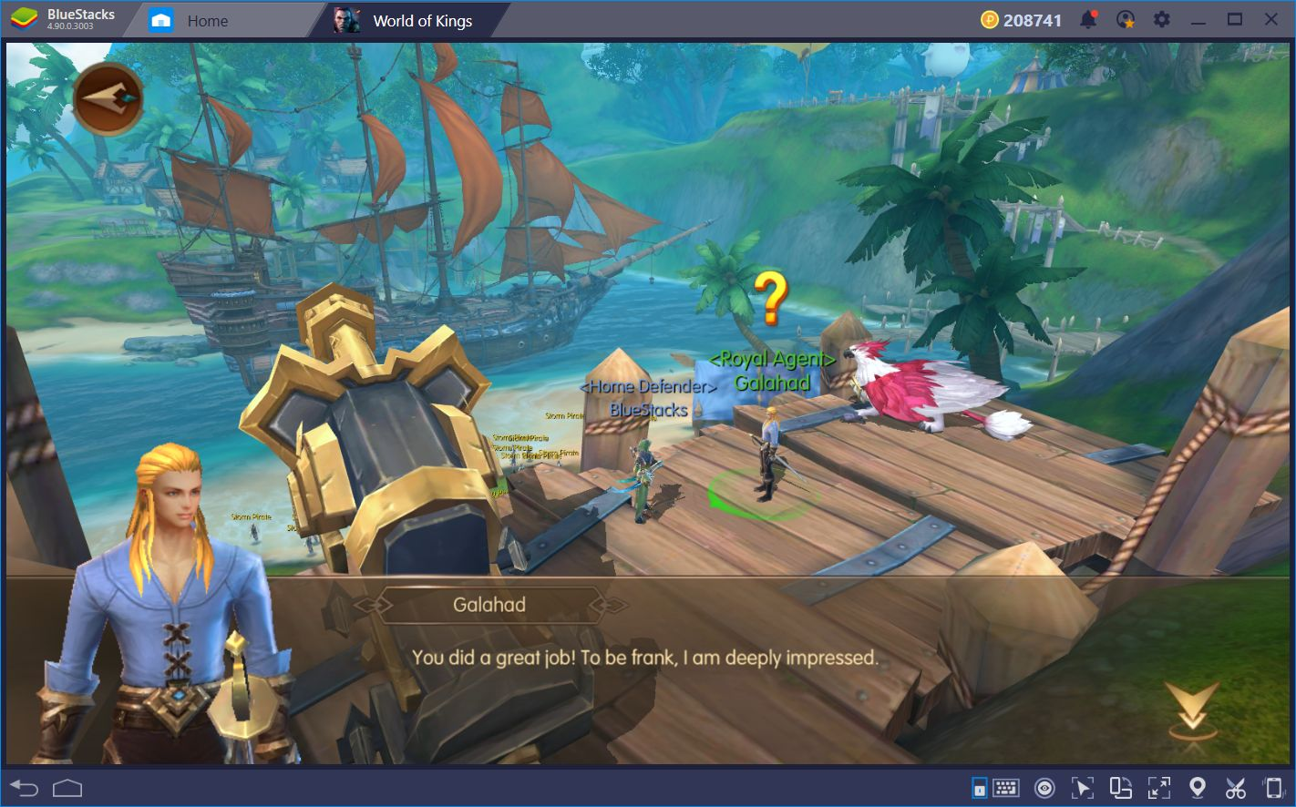 Running Tough Content in World of Kings | BlueStacks 4