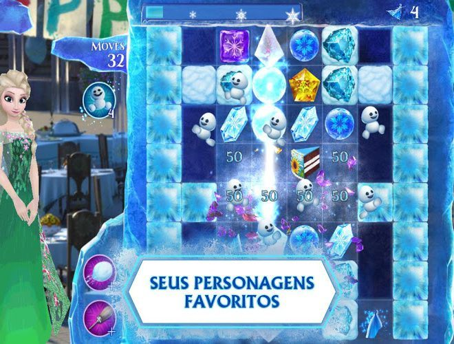 Jogue Frozen Free Fall para PC 4