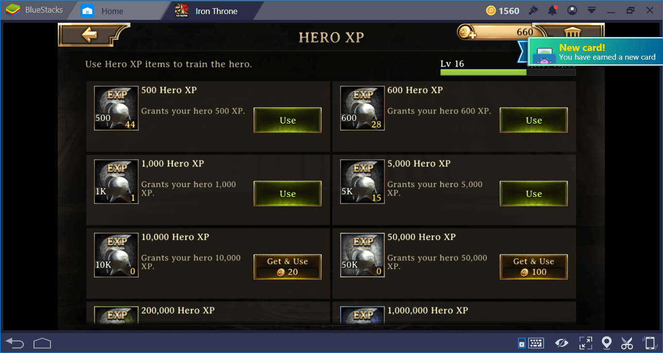 Iron Throne: Heroes and Leveling Up Guide