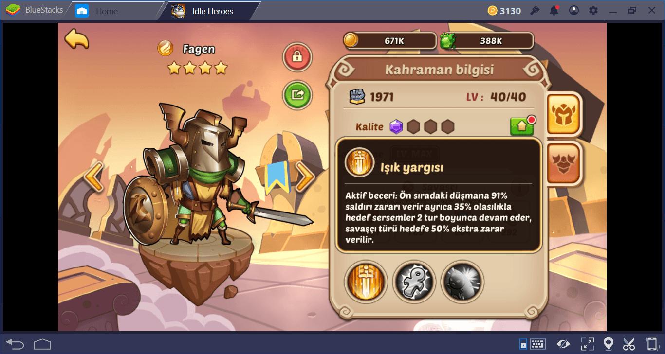 Idle Heroes: Kahramanlar Rehberi