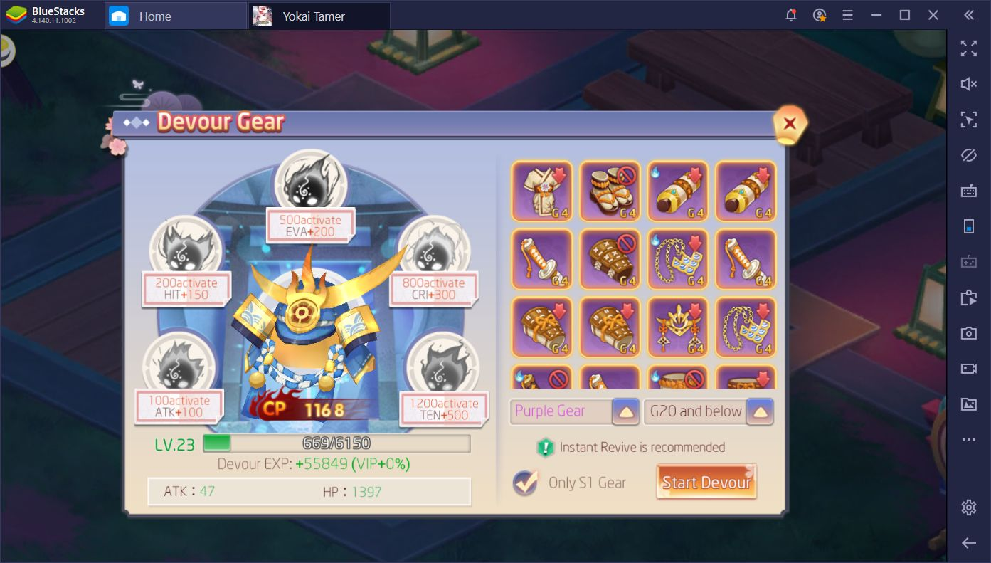 Yokai Tamer on PC: How to Get Better Gear and Increase Your CP