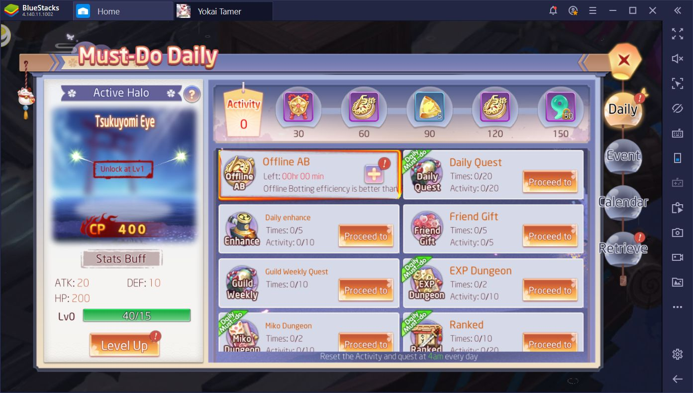 Leveling up is one of the most important parts of Yokai Tamer. Read this guide to learn the best ways to level up fast in this mobile MMORPG.q