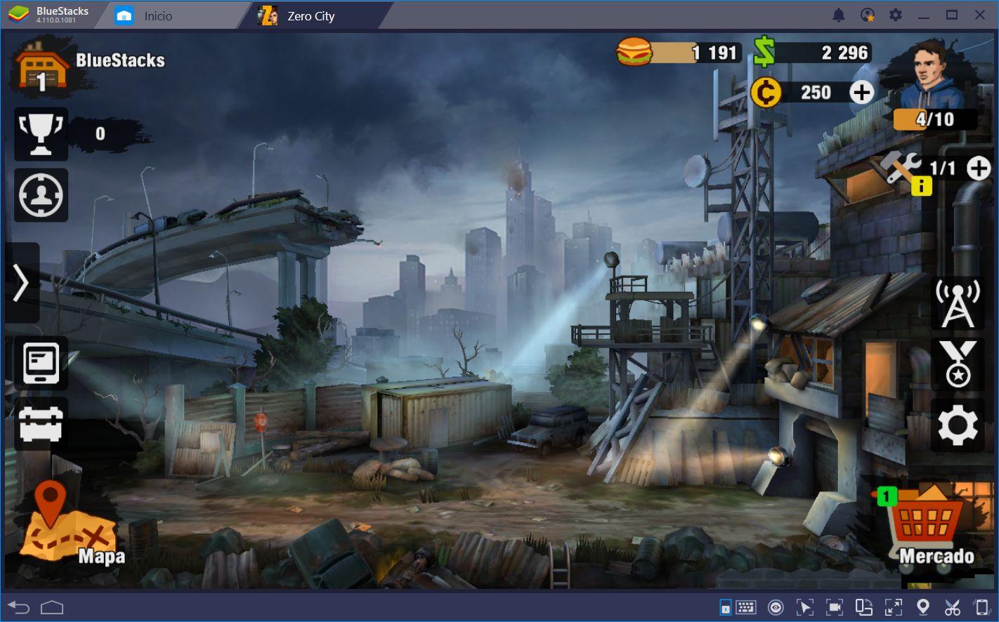 Construye el Mejor Refugio y Lucha Contra los Zombis en Zero City