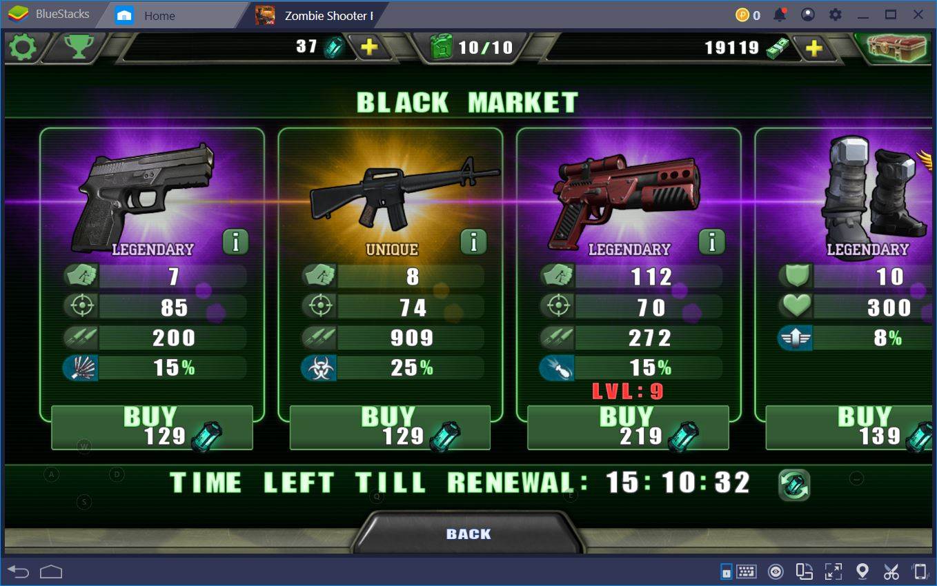 Destroy the Zombie Shooter Walkers with BlueStacks