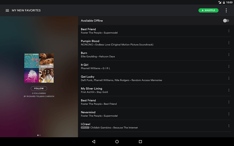 Download Spotify android app on PC with BlueStacks