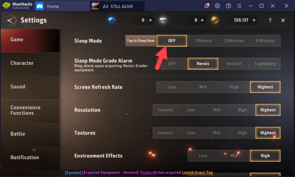Hướng dẫn dùng bàn phím chơi A3: Still Alive như game PC
