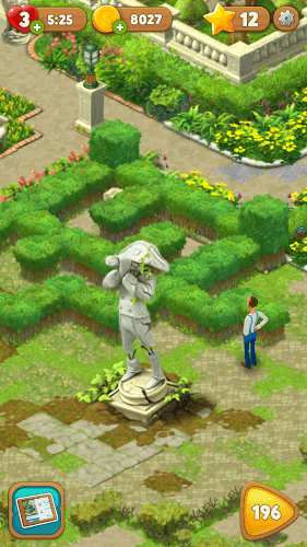 Играй Gardenscapes on pc 8