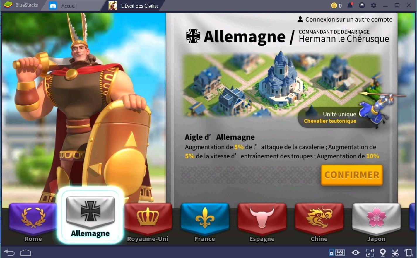 Zoom sur les différents civilisations de Rise of Kingdoms