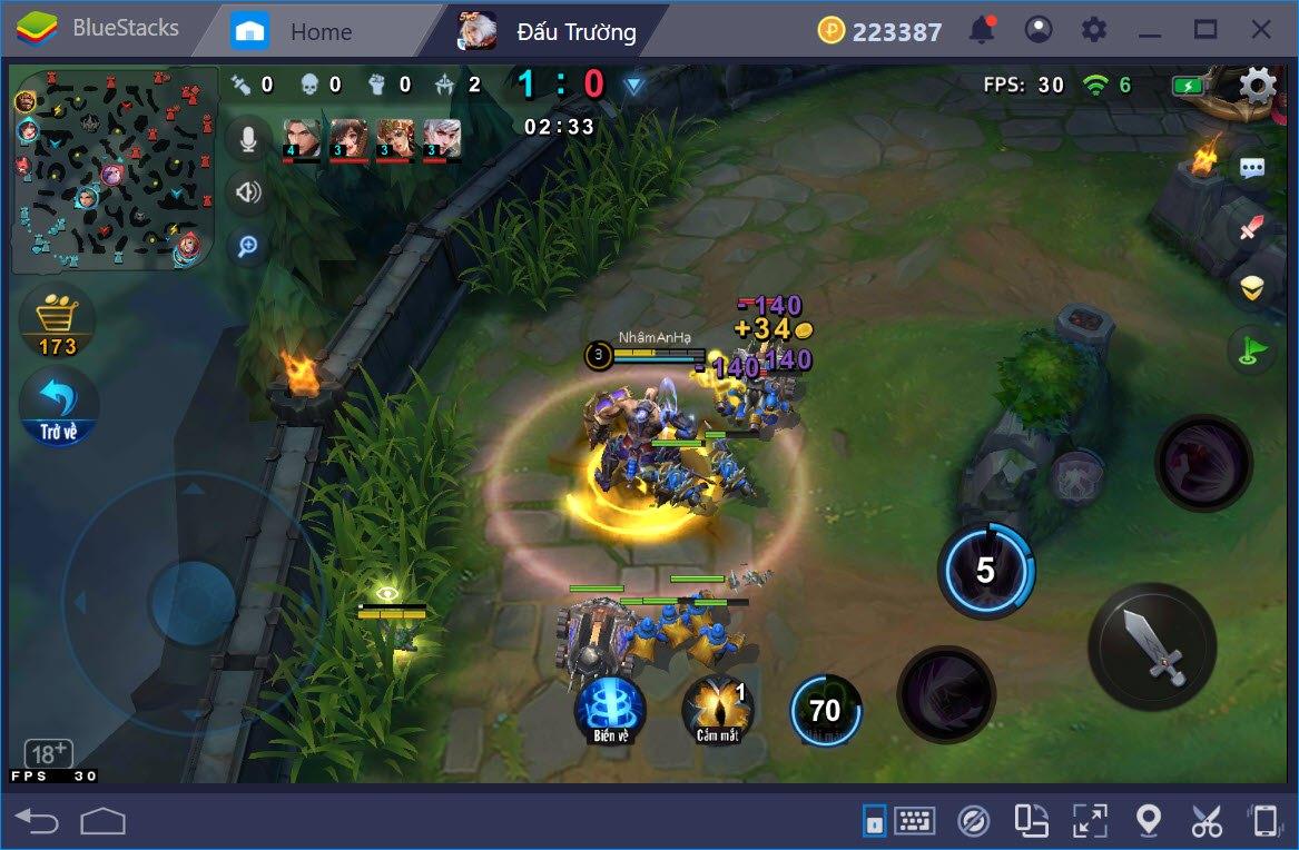 AOG – Đấu Trường Vinh Quang: Hướng dẫn thiết lập Game Controls