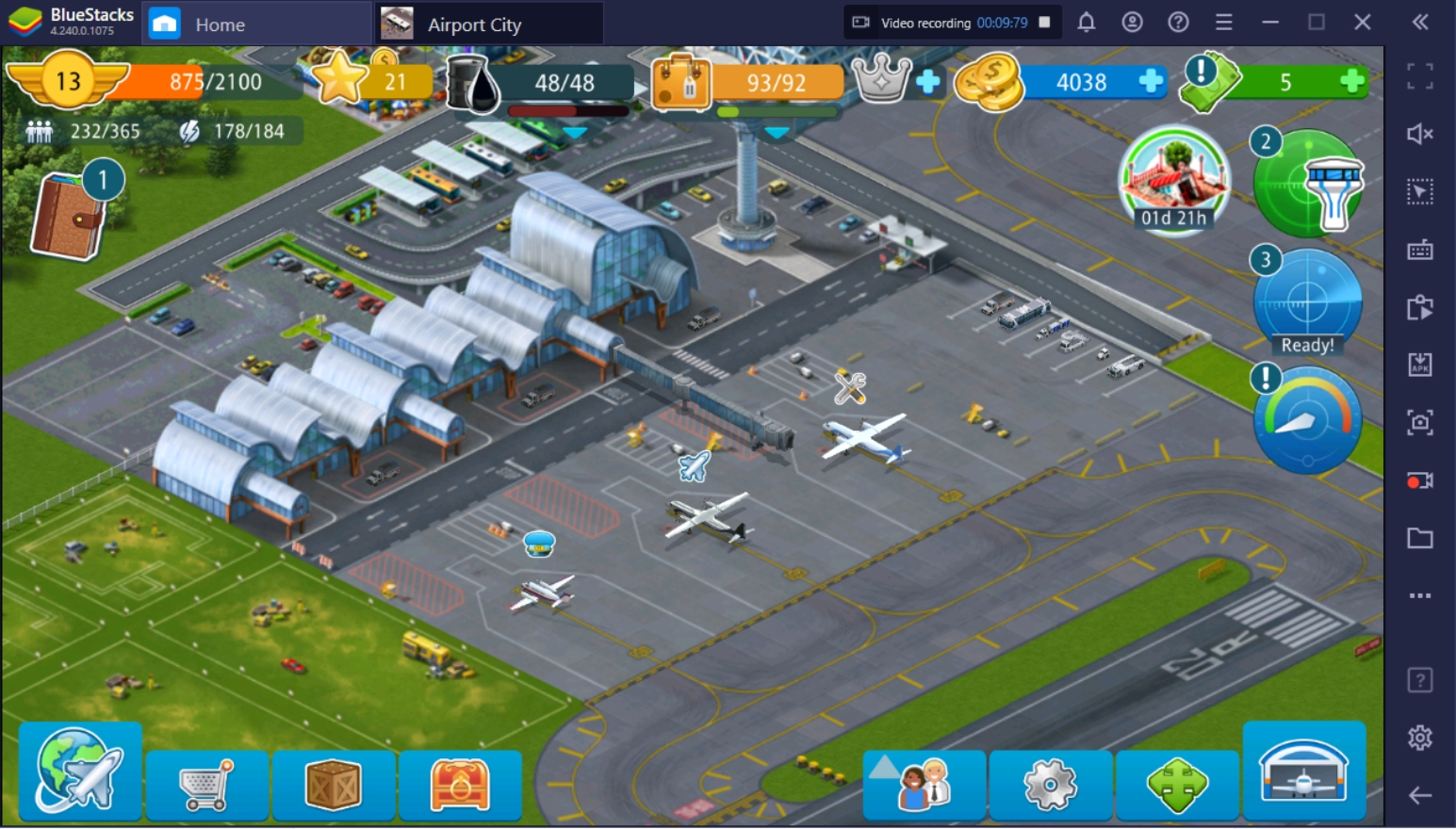 How to Play Airport City on PC with BlueStacks