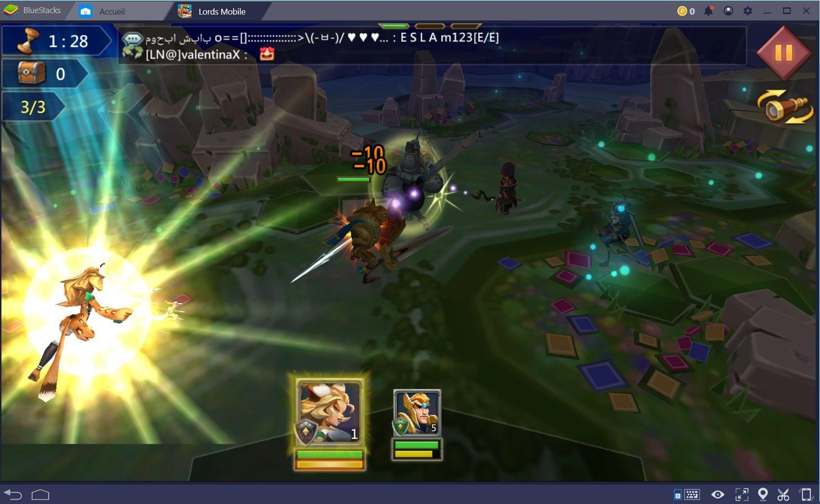 Comment obtenir des héros dans Lords Mobile et leur faire gagner des niveaux ?