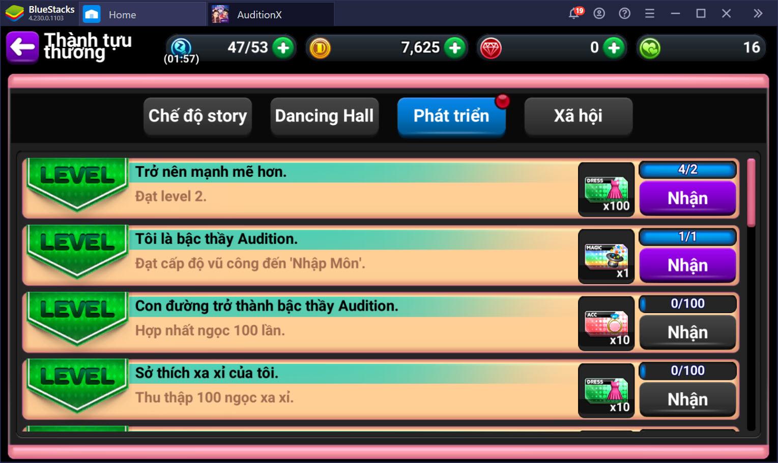 Hướng dẫn nhập môn cho các vũ công Audition X