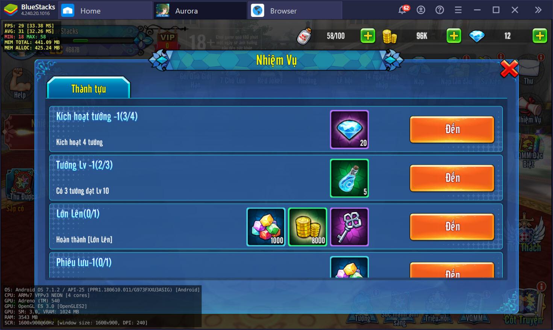Aurora – Vùng đất huyền thoại: Cách nâng cấp tướng, trang bị và kỹ năng