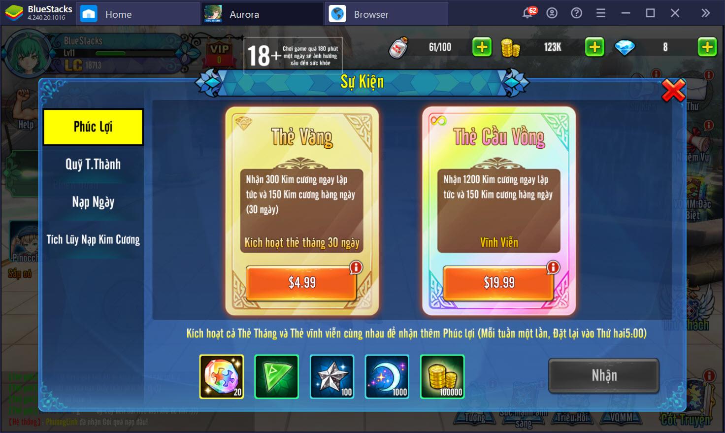 Cùng chơi Aurora – Vùng đất huyền thoại trên PC với BlueStacks