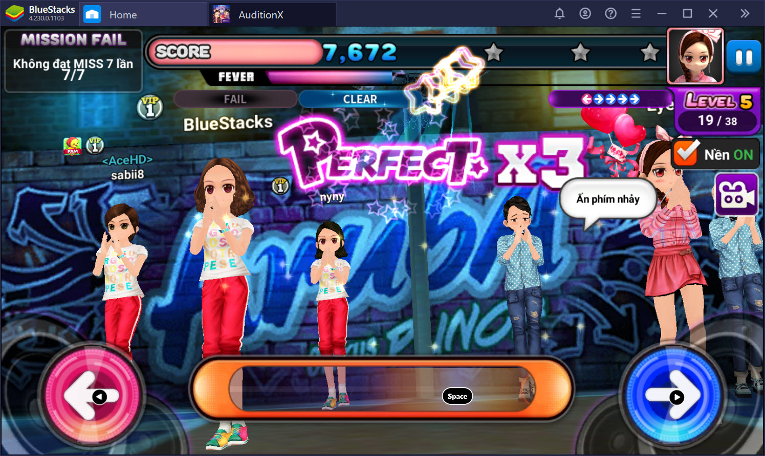 Thiết lập Game Controls nhảy 2K, 4K trong Audition X