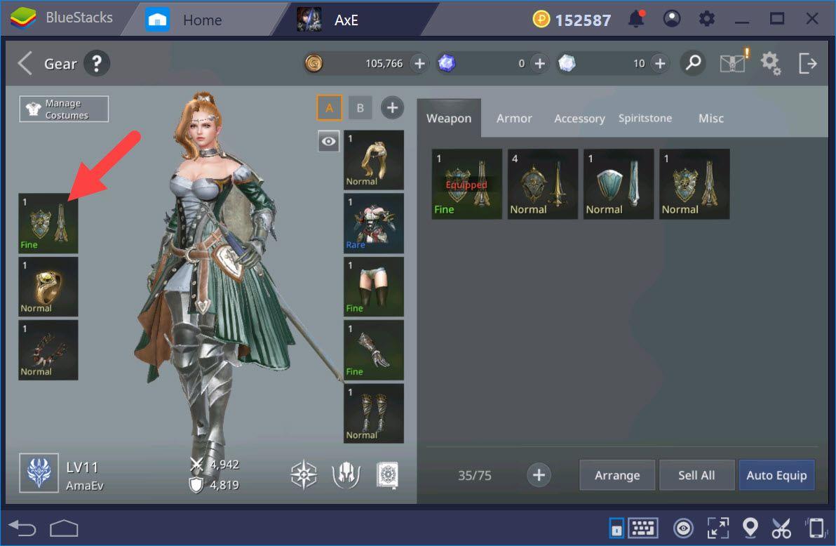 AxE:背水一戰 裝備強化與遊玩技巧