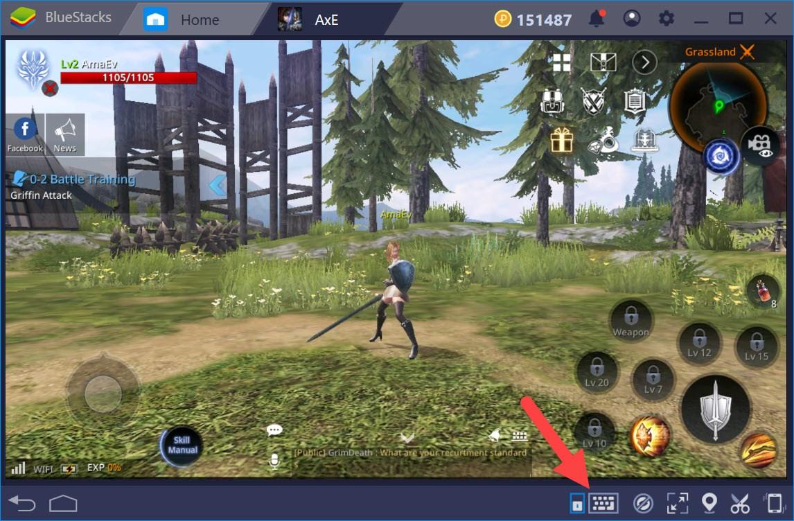 如何調整BlueStacks 遊戲控制 的設置以遊玩 AxE:背水一戰