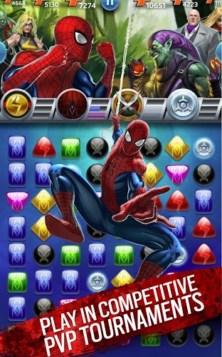 Play Marvel Puzzle Quest on PC 16