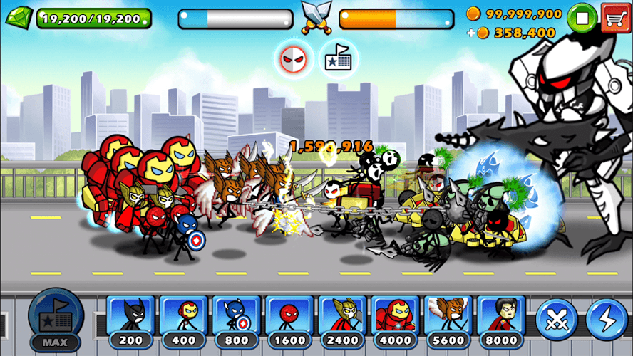 Chơi HERO WARS: Super Stickman Defense on PC 6
