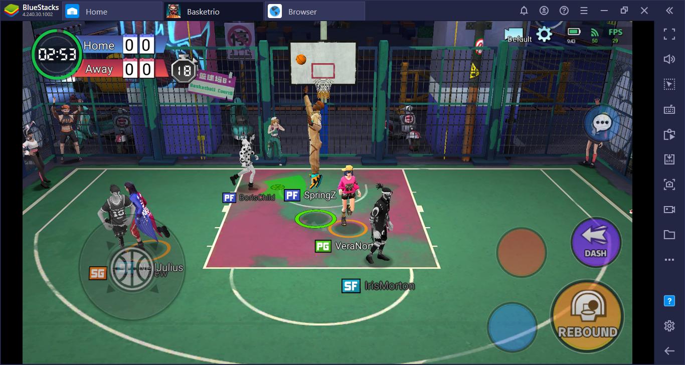 Basketrio untuk PC – Cara Memainkan Game Bola Basket Mobile yang Luar Biasa ini di PC
