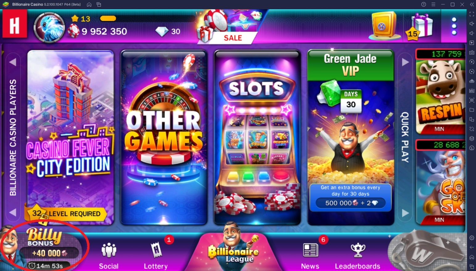 Fastest Way to Get Free Chips in Billionaire Casino Slots 777