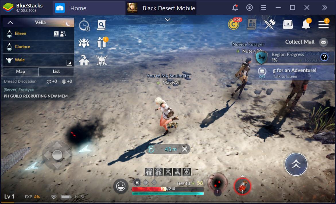 Sát cánh cùng bạn bè trong Black Desert Mobile với BlueStacks