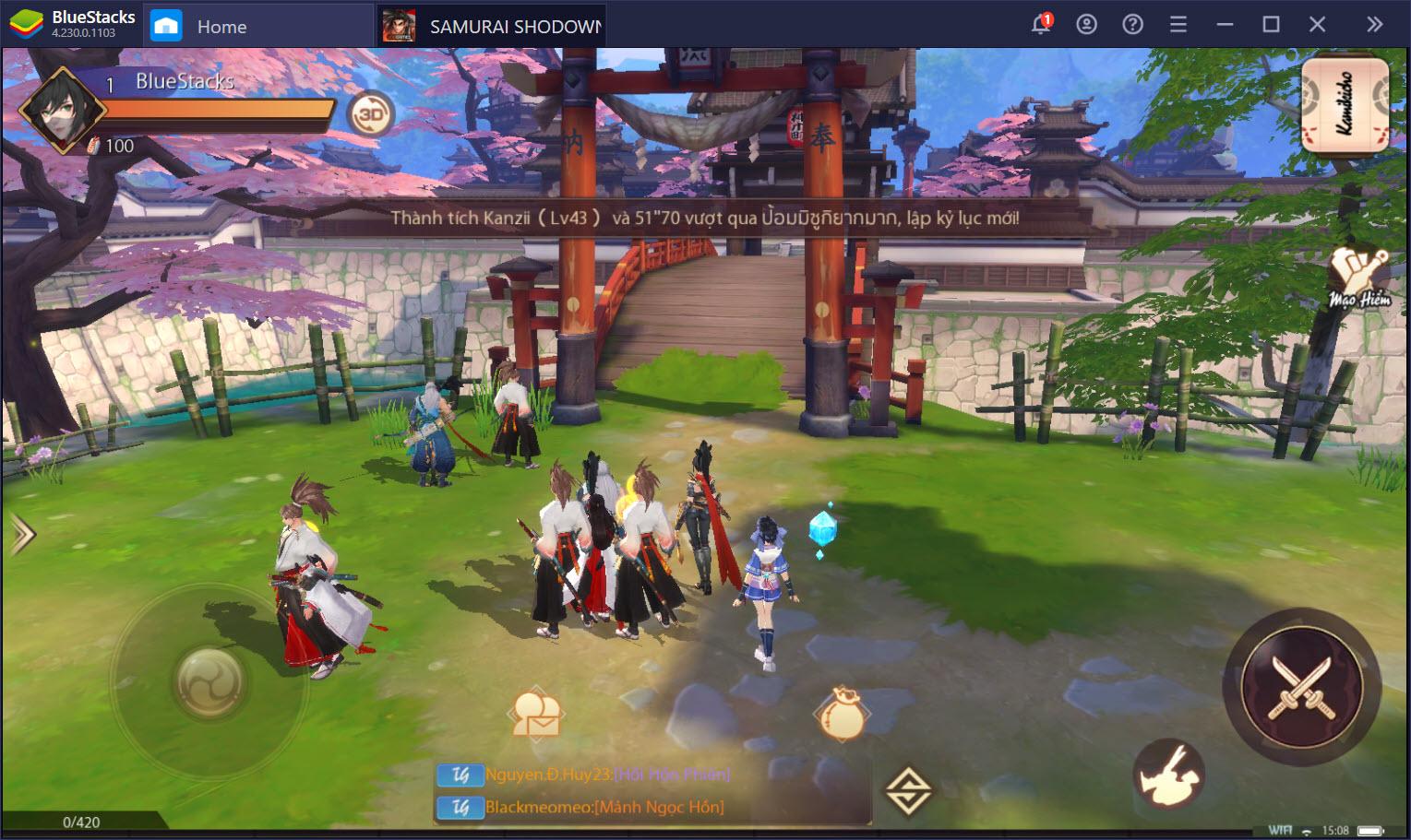 Hóa thân võ sĩ đạo cùng SAMURAI SHODOWN: The Legend of Samurai cùng BlueStacks
