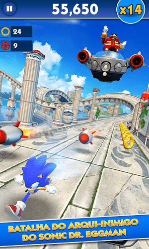 Jogue Sonic Dash on pc 2