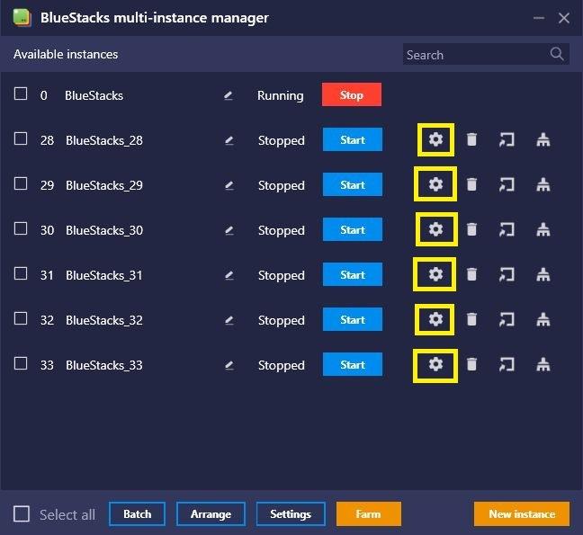 BlueStacks에서 파밍 모드로 일당백 파밍 전사 되기