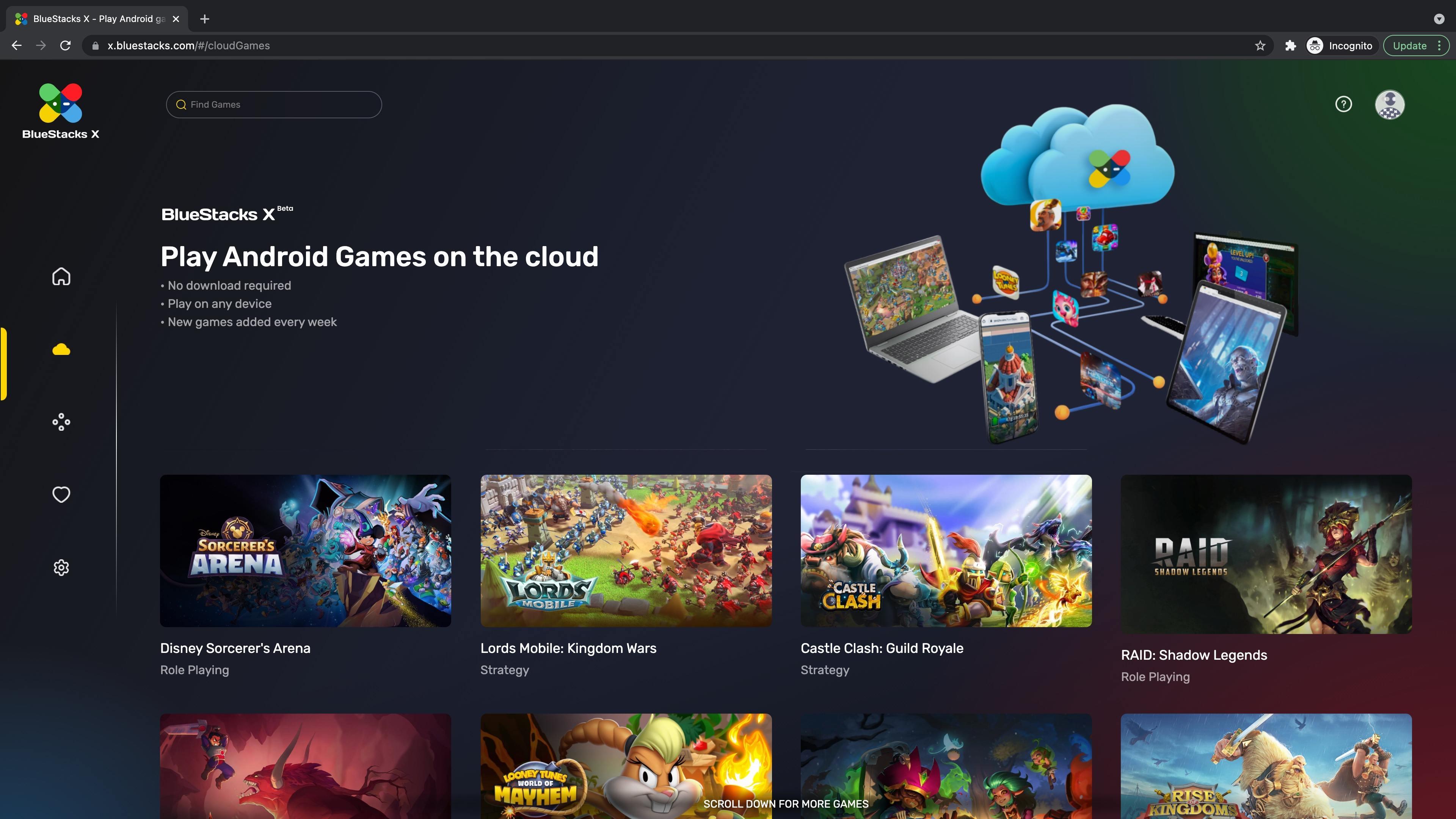 BlueStacks X: Dịch vụ chơi game di động đám mây đầu tiên trên thế giới