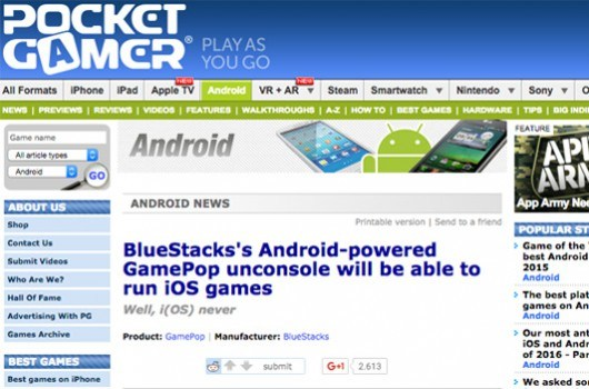 BlueStacks's Android-powered GamePop unconsole will be able to run iOS games 13