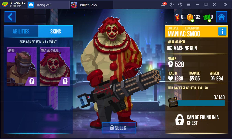 Bullet Echo: Tổng quan hệ thống sức mạnh nhân vật