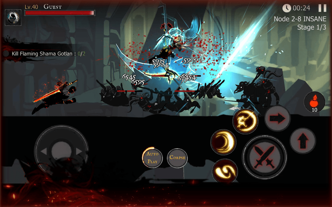 Download Shadow of Death: Stickman Fighting - Dark Knight on PC with