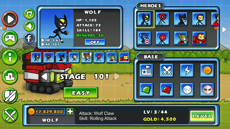 Chơi HERO WARS: Super Stickman Defense on PC 15