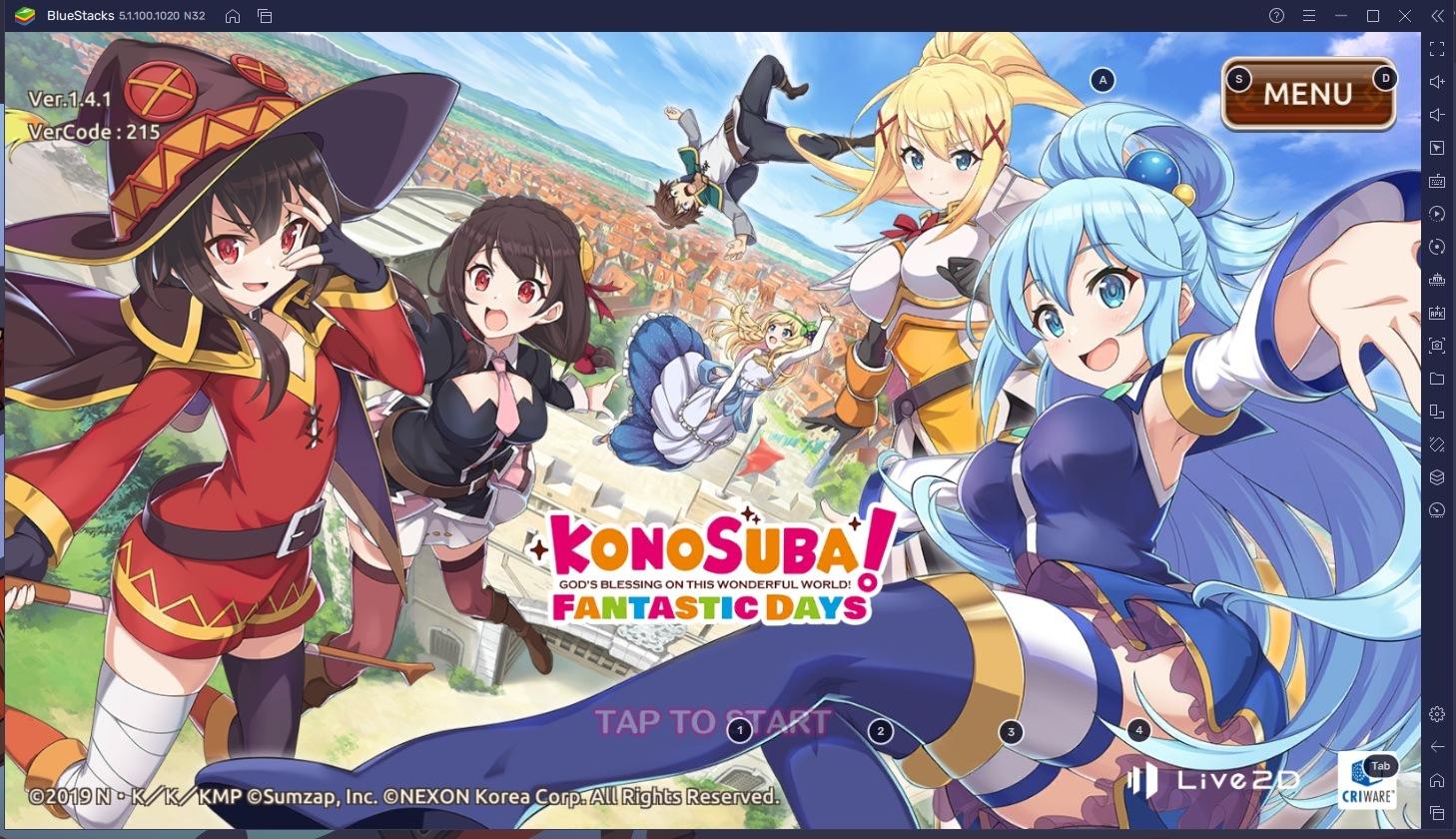 Cara Bermain KonoSuba: Fantastic Days via BlueStacks di PC!