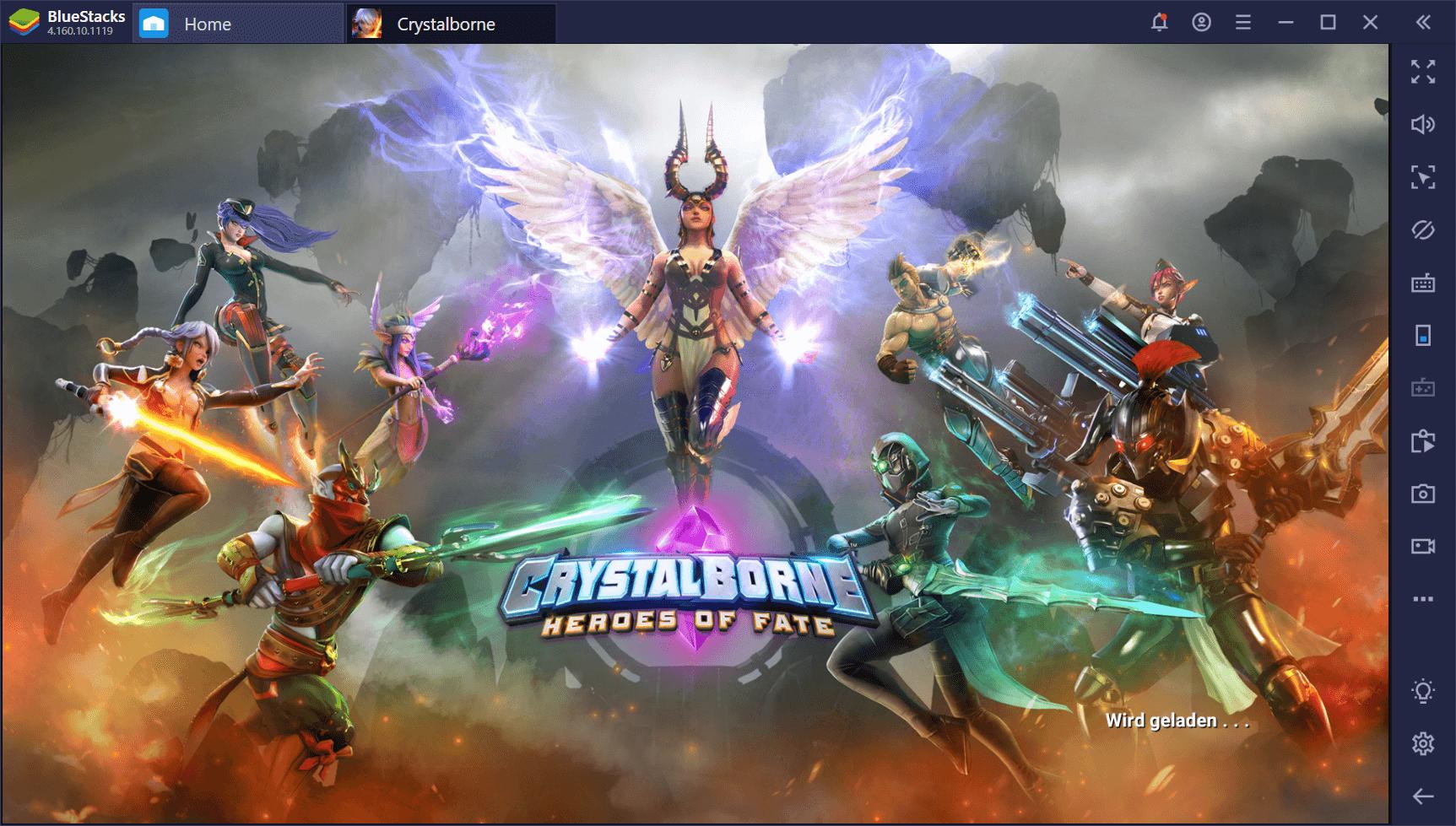 Gewinnen bei Crystalborne: Heroes of Fate auf dem PC mit BlueStacks