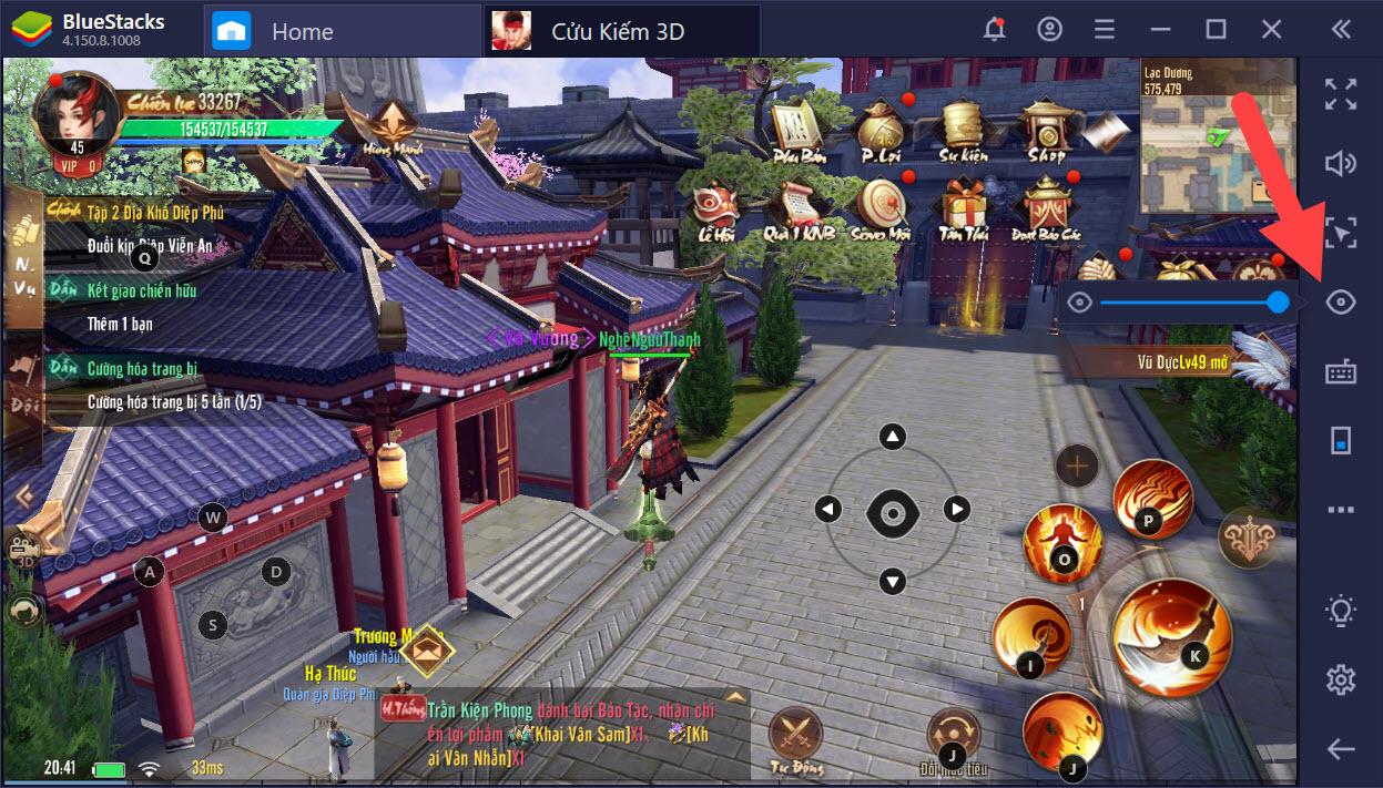 Cửu Kiếm 3D: Tuyệt đỉnh PK với Game Controls của BlueStacks