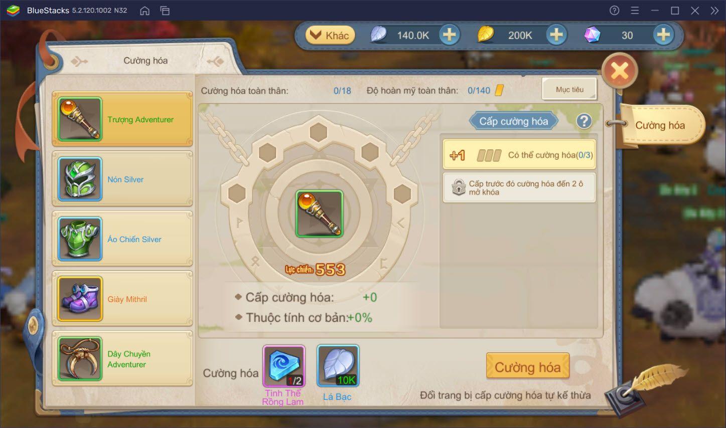 Cloud Song: Cách nâng cấp trang bị và lên cấp nhanh