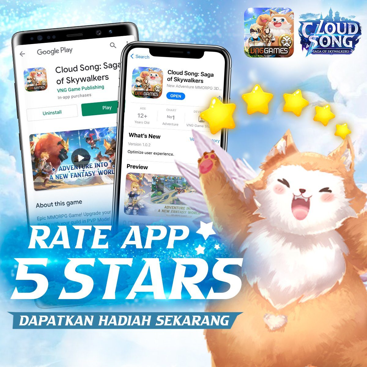 Penjelasan Event Pembukaan dan Perilisan MMORPG Mobile Cloud Song, Beserta Giftcode!
