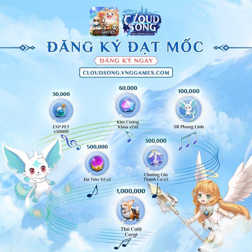 Game mới Cloud Song mở đăng ký sớm với quà khủng