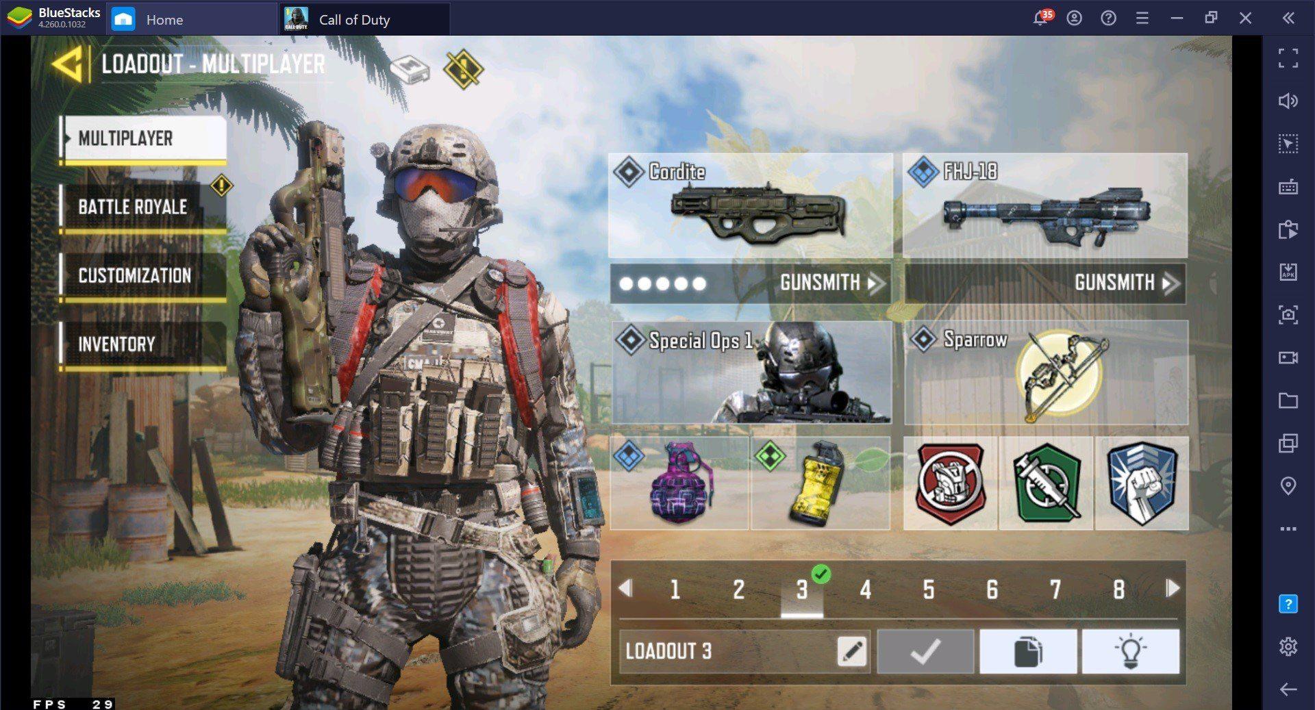 Hướng Dẫn kết Hợp thẻ Hỗ Trợ trong Call Of Duty: Mobile