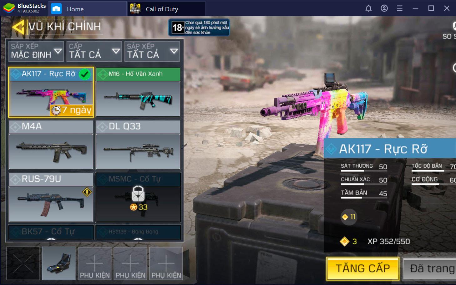 Cách nâng cấp, lắp thêm trang bị cho vũ khí trong Call of Duty: Mobile