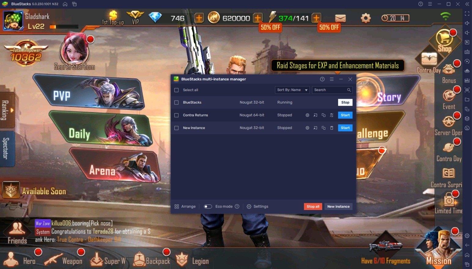 كيف تلعب لعبة Contra Returns على جهاز الكمبيوتر باستخدام Bluestacks